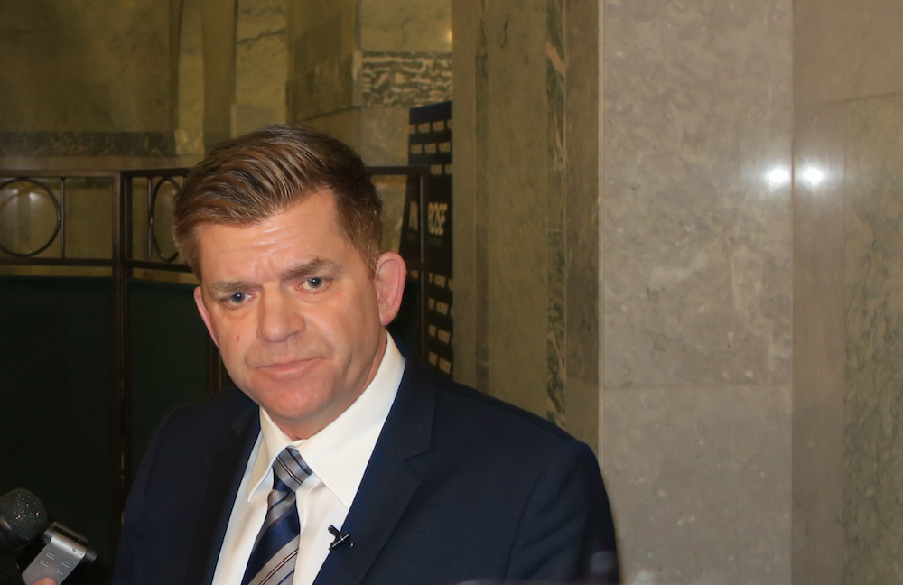 Brian Jean, when he was still running for the leadership of the United Conservative Party in 2017. (Photo: David J. Climenhaga)