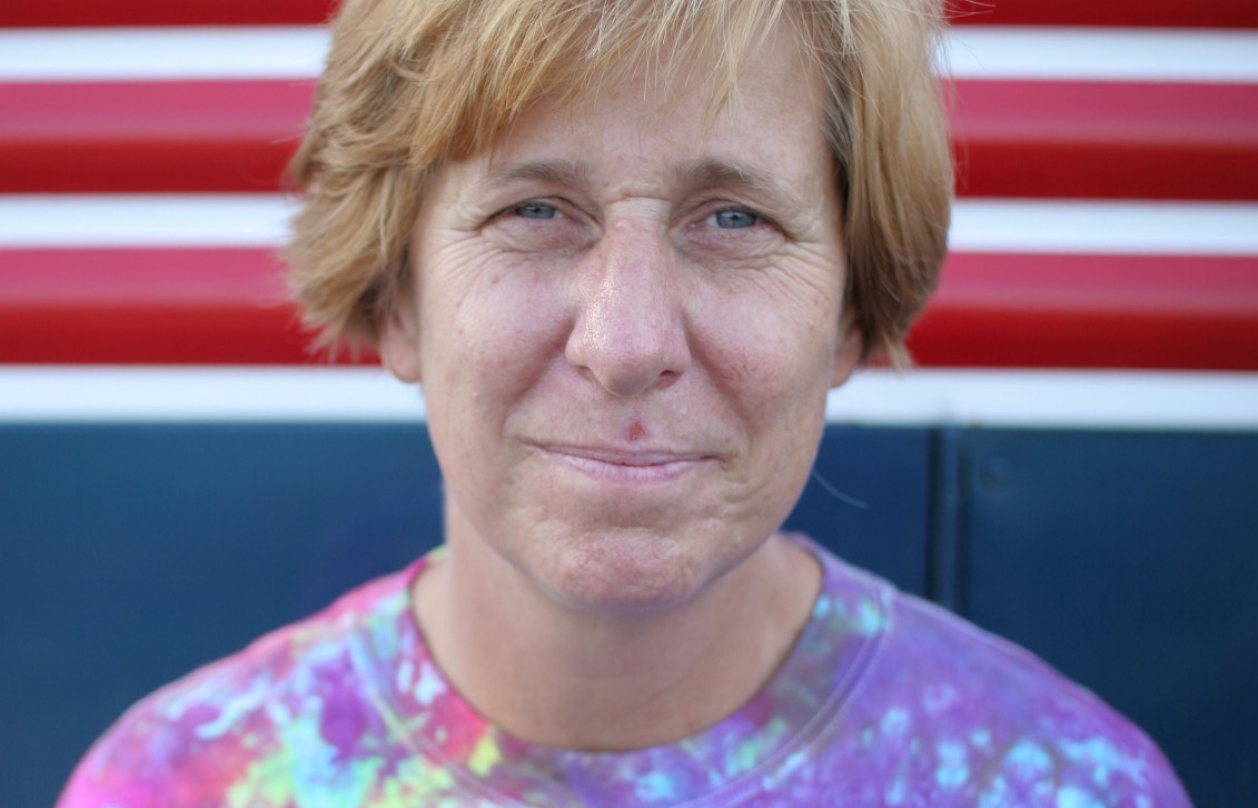 Cindy Sheehan, Director of The Women's March on the Pentagon. Photo by Jacob Appelbaum/Wikimedia Commons