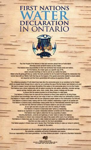 First Nations Water Declaration