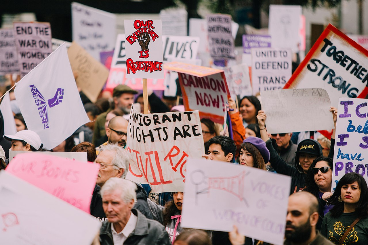 International Women's Day March, 2017, Los Angeles. Image Credit: Molly Adams/Wikimedia Commons