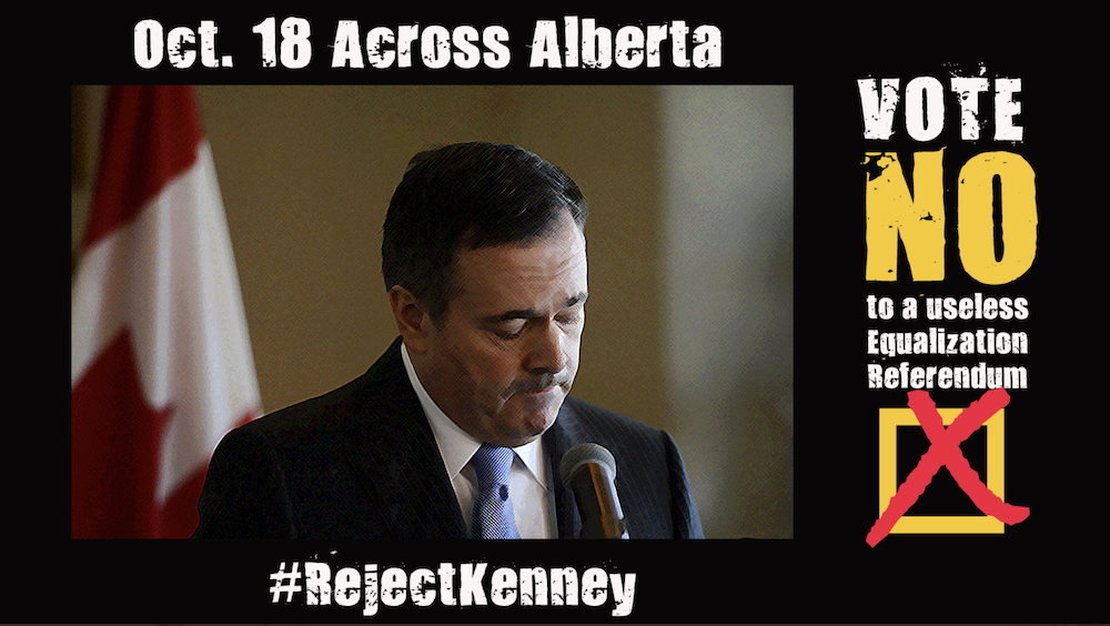 """A meme created for the spontaneous, unfunded """"No"""" campaign in Jason Kenney's cynical anti-equalization referendum. @edwinmundt/Twitter/Used with permission"""